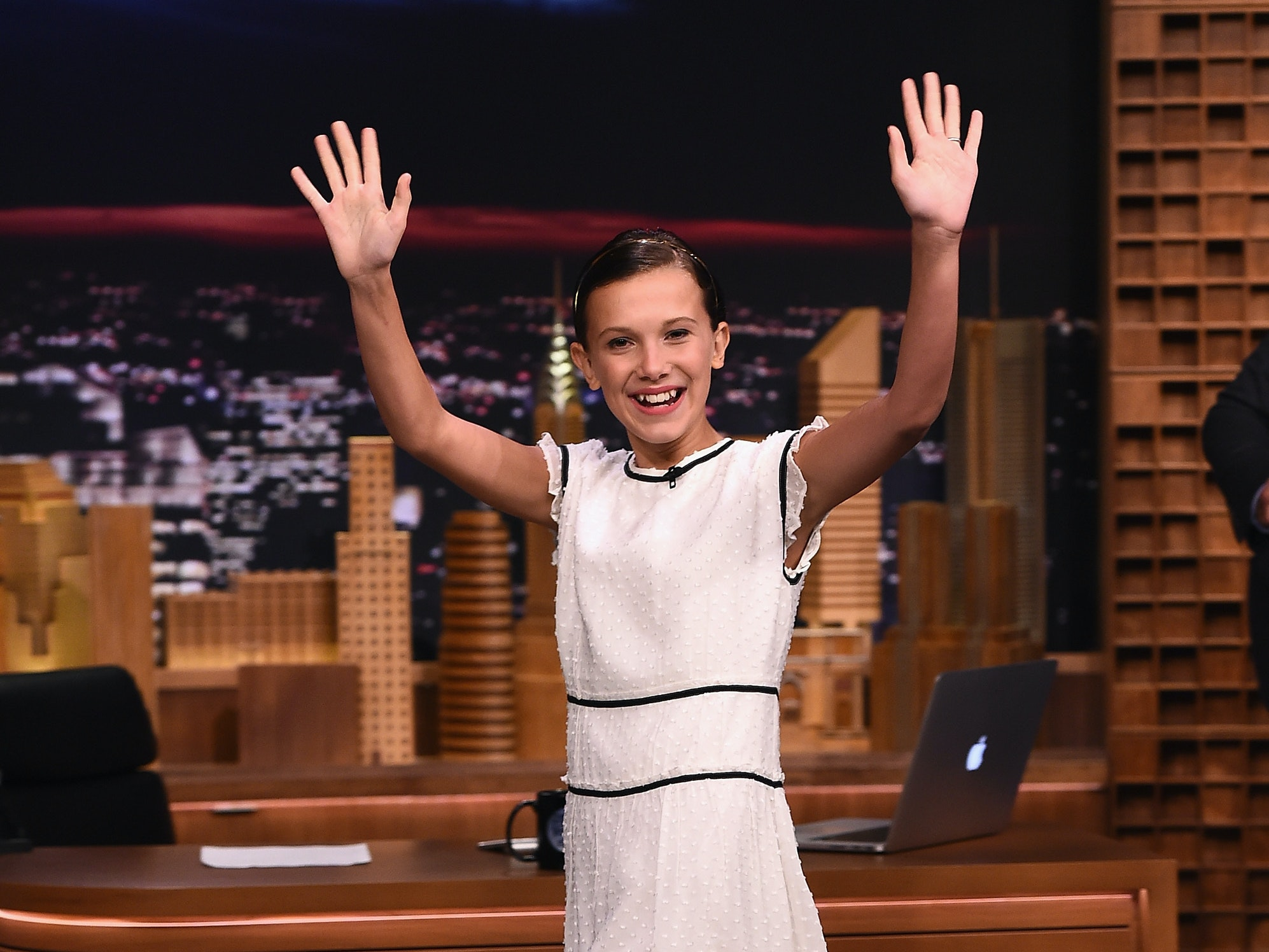 NEW YORK, NY - AUGUST 31:  Millie Bobby Brown visits 'The Tonight Show Starring Jimmy Fallon' at Rockefeller Center on August 31, 2016 in New York City.  (Photo by Theo Wargo/Getty Images for NBC)
