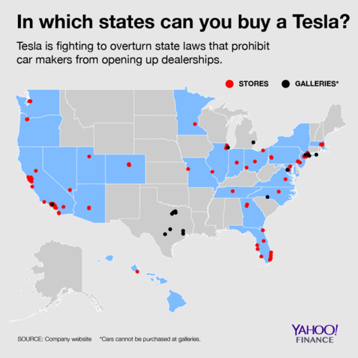 only states where you can buy a tesla