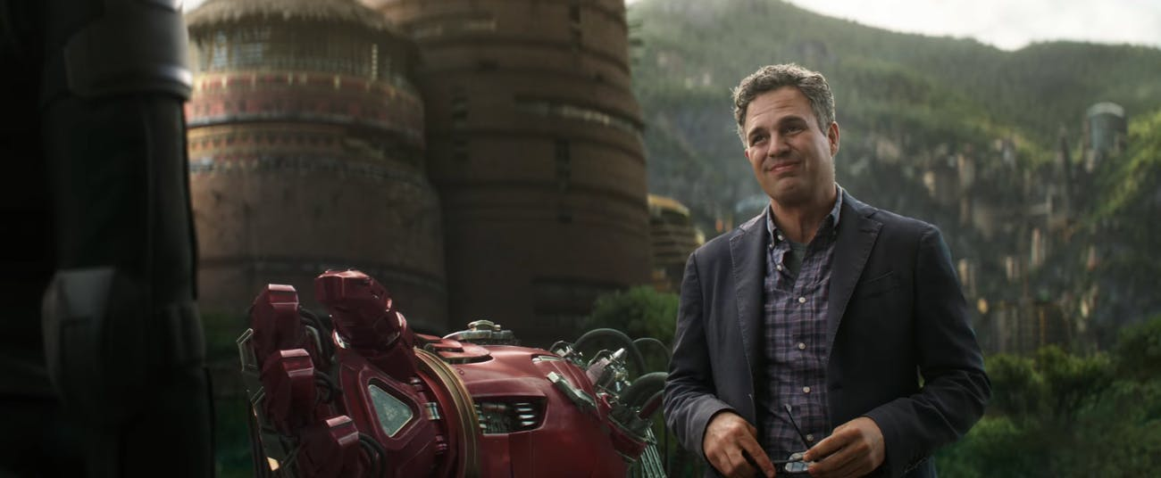 In the 'Infinity War' trailer, it was Banner working on the Hulkbuster armor.