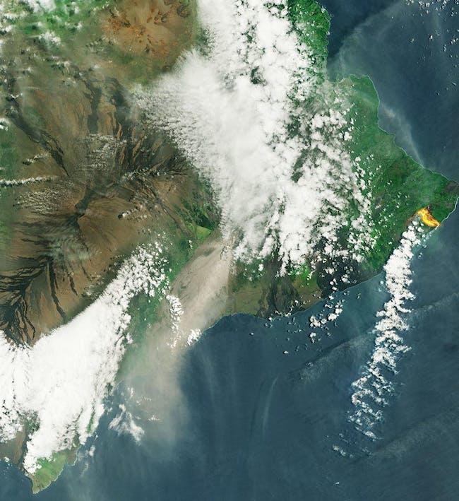 hawaii volcano kilauea lava satellite image ESA
