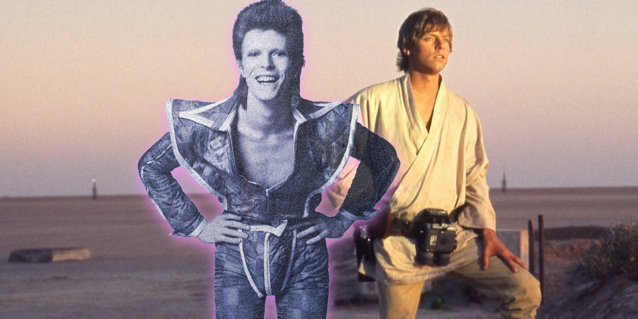 David Bowie's presence crashed 'Star Wars' according to Mark Hamill.