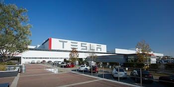 Tesla's plant in Fremont, California.