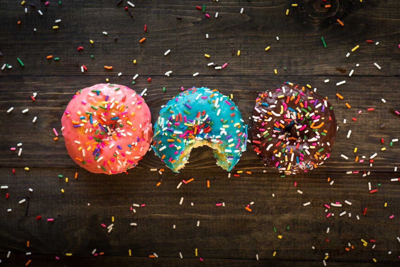 three doughnuts