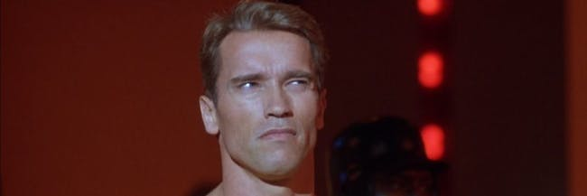 Arnold Schwarzenegger in 'The Running Man'