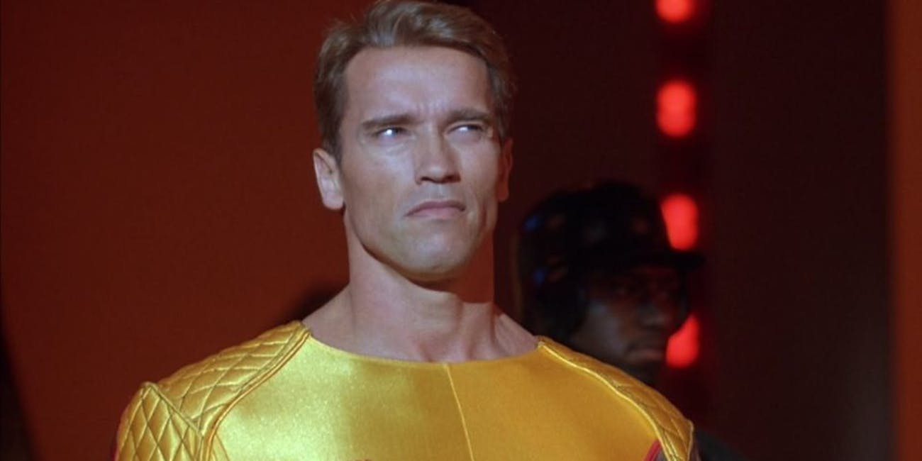 Arnold Schwarzenegger in 'The Running Man'