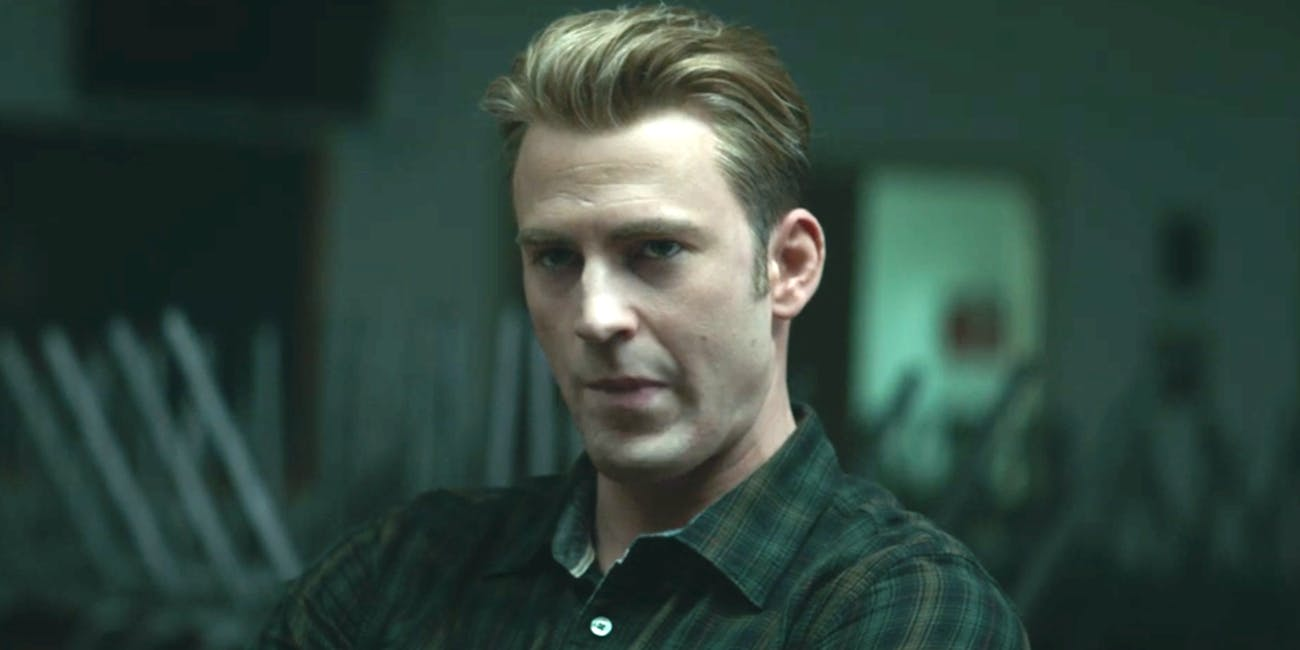 Chris Evans as Steve Rodgers, a.k.a. Captain America, in the 'Avengers: Endgame' trailer that aired before the 2019 Super Bowl.
