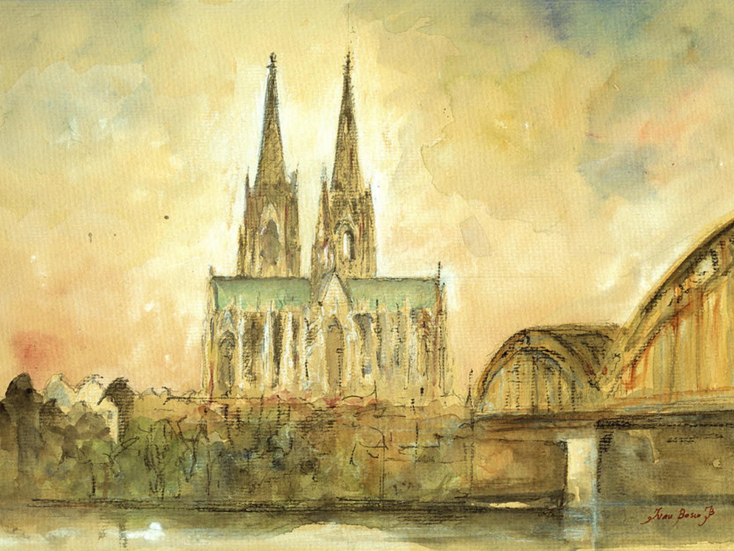 """""""Cologne Cathedral,"""" by Juan Bosco"""