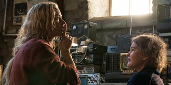 Emily Blunt stars in 'A Quiet Place' as the mother of a family living in the apocalypse.