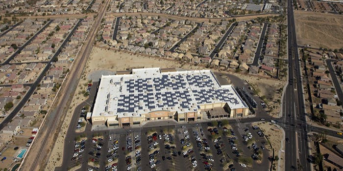 Solar panels renewable energy corporate economic interest