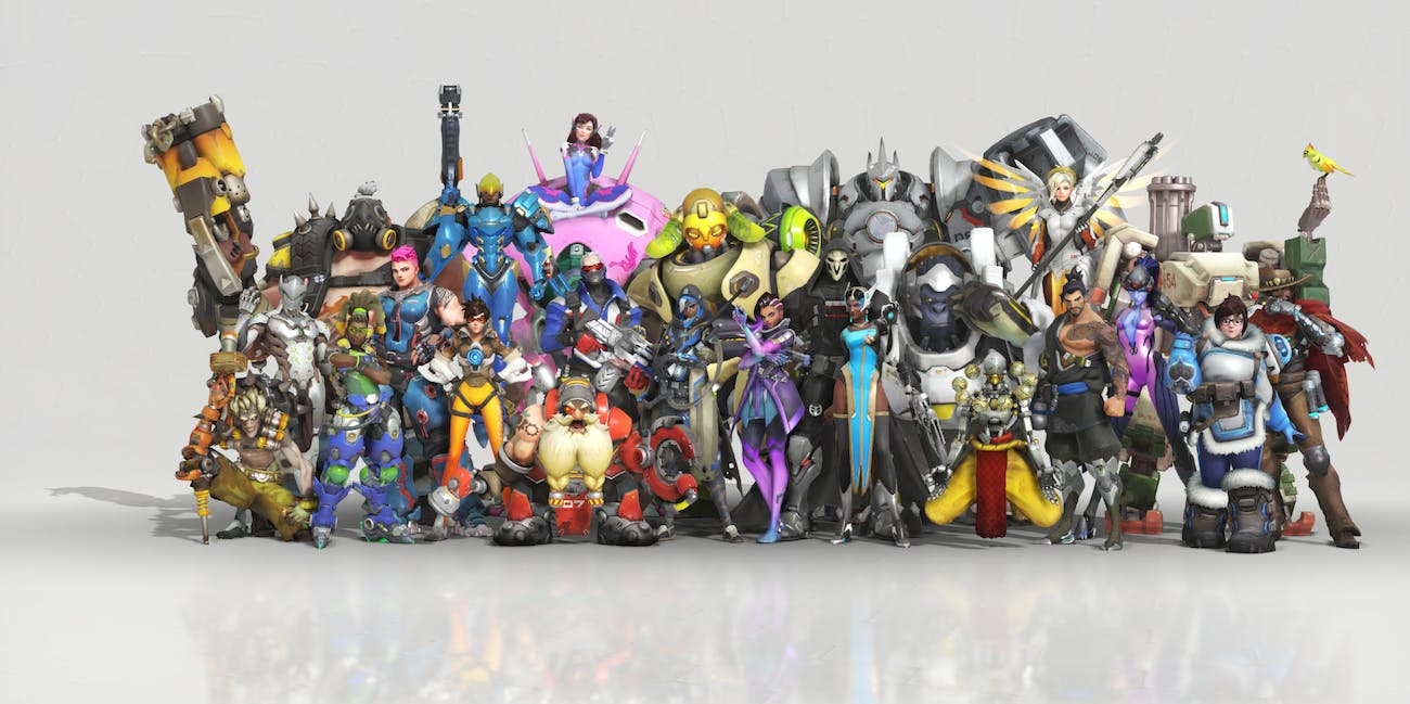 Overwatch Anniversary Event Skins Heroes Pose