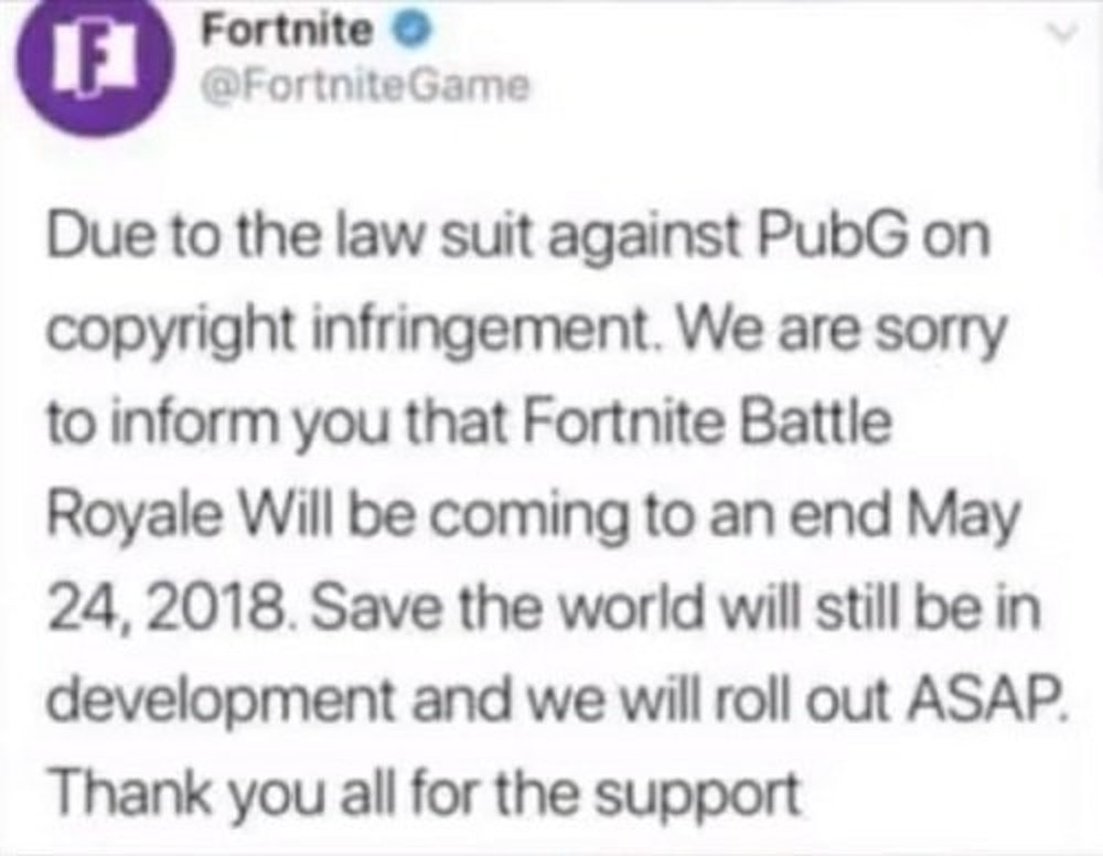 [Image: fortnite-fake-tweet.jpeg?dpr=2&auto=...&w=500]