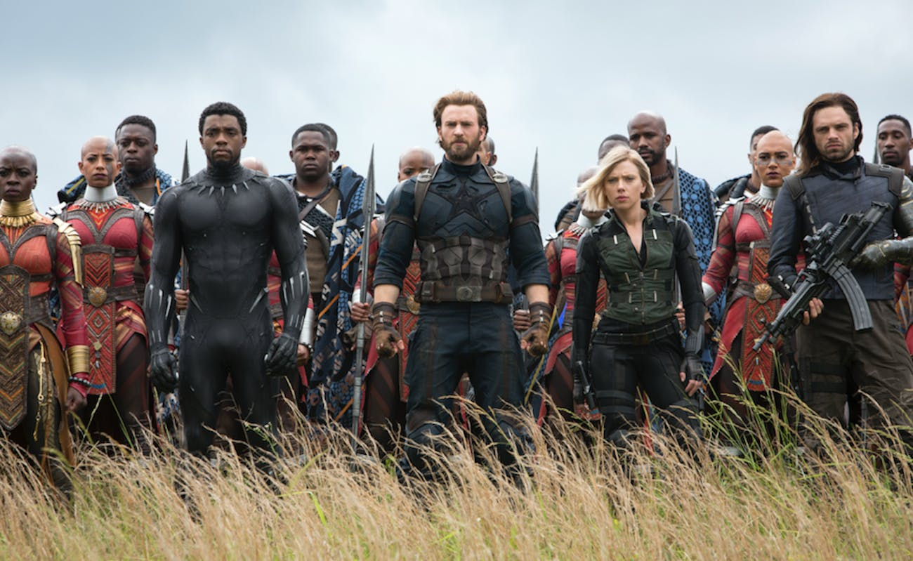 Black Panther, Captain America, Black Widow, the Winter Solider and he nation of Wakanda face the forces of Thanos in 'Infinity War.'