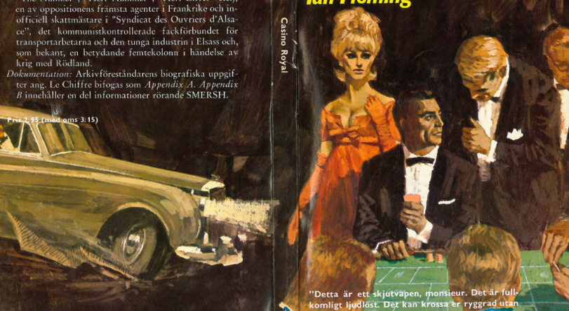 German cover of  the novel 'Casino Royale'