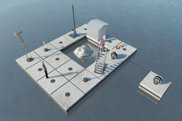 An artist concept of the FATBERG construction platform by Space&Matter.