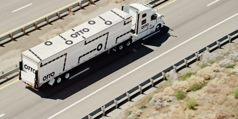 An Otto truck just delivered 50,000 cans of Budweiser - the world's first autonomous delivery.