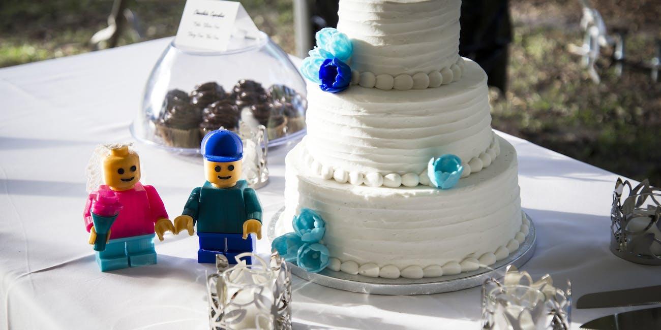 lego and wedding cake