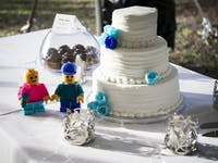 lego and wedding cake
