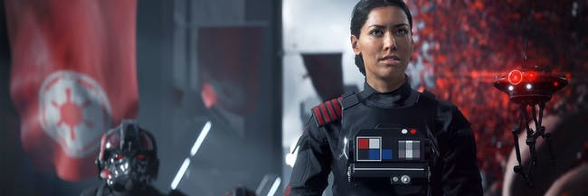 Janina Gavankar plays Inferno Squad Commander Iden Versio in 'Star Wars: Battlefront II'.