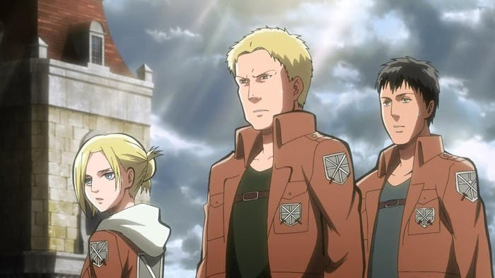 Annie, Reiner, and Bertholdt are three Titan Shifters that are enemies of humanity.