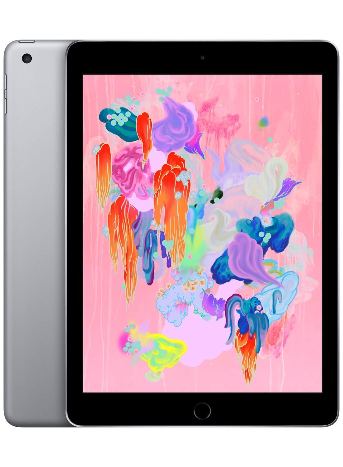 Apple iPad (Wi-Fi, 128GB) - Space Gray (Latest Model), tablet, iOS