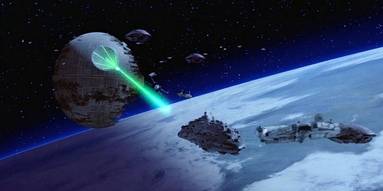 The Death Star in 'Return of the Jedi'