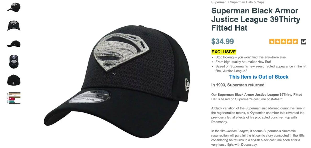 Superman Justice League Black Hat