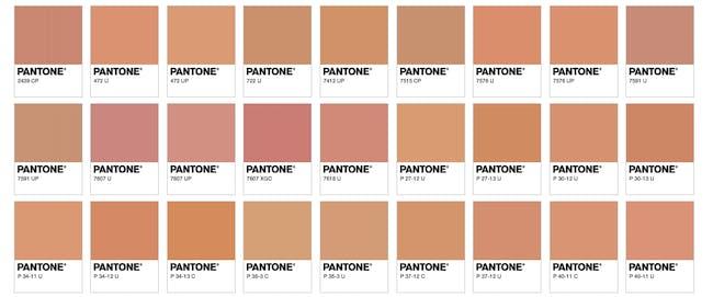 pantone hot dog colors