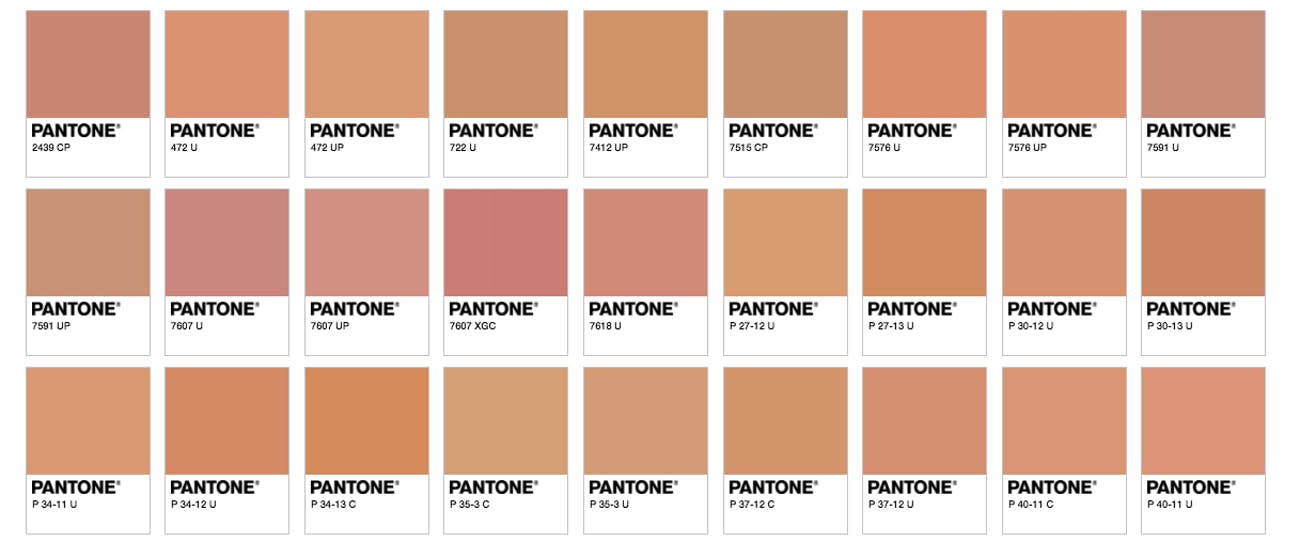 pantone hot dog colors