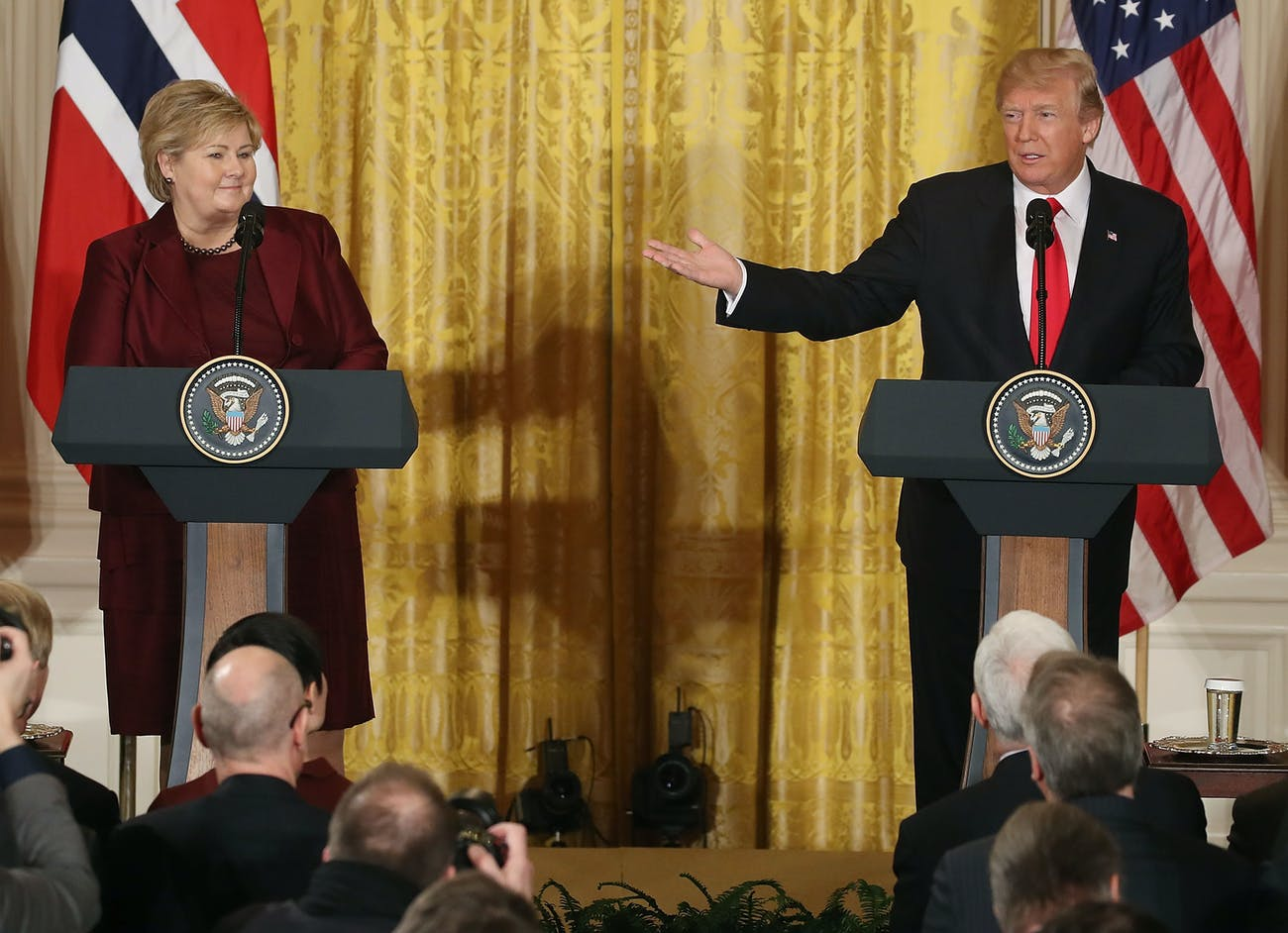 Donald Trump Erna Solberg