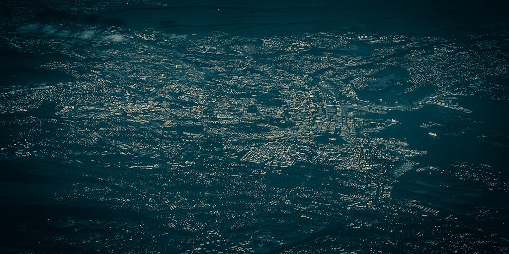 Oslo as seen from above.