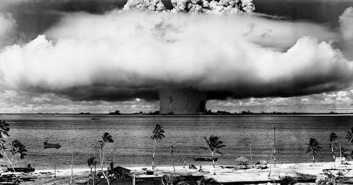 A nuclear artillery test.