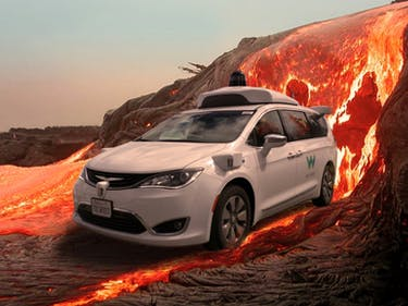 Waymo lava test