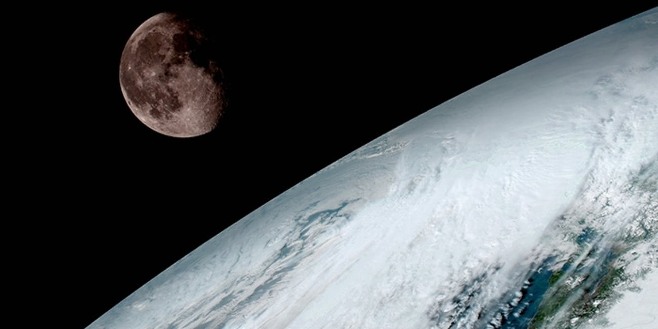 NOAA Weather Satellite Takes Stunning Photo of the Moon