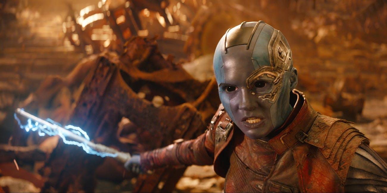 Karen Gillan plays Nebula in 'Avengers: Infinity War'.