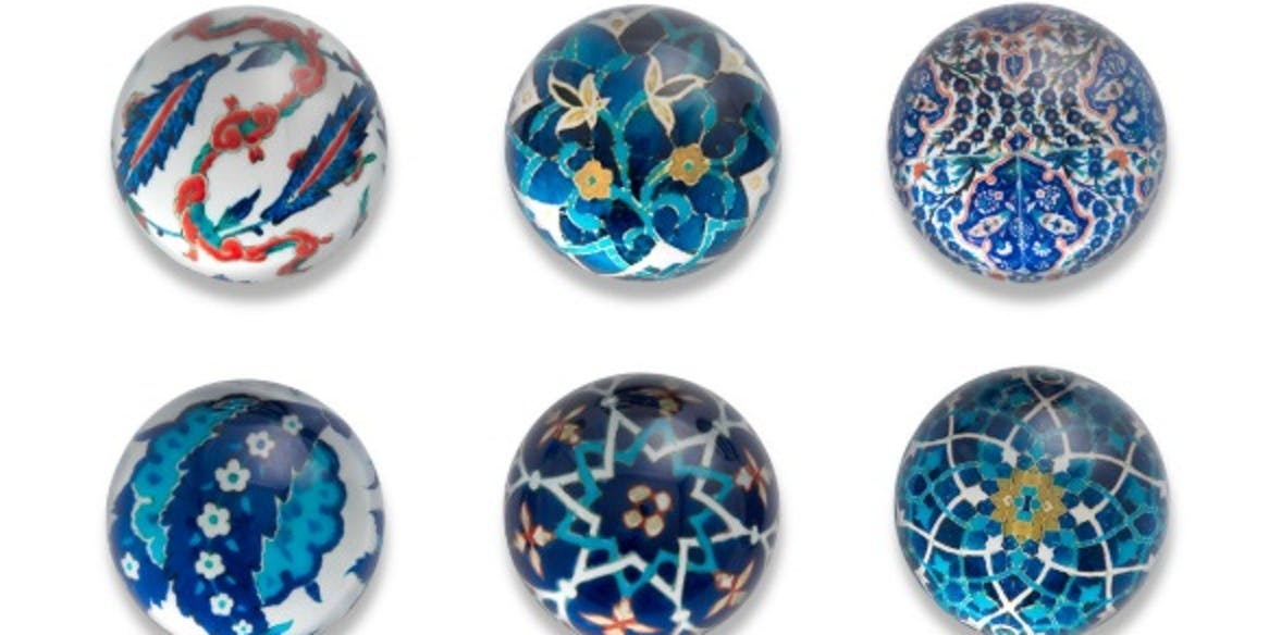 Islamic Tiles Domed Magnets