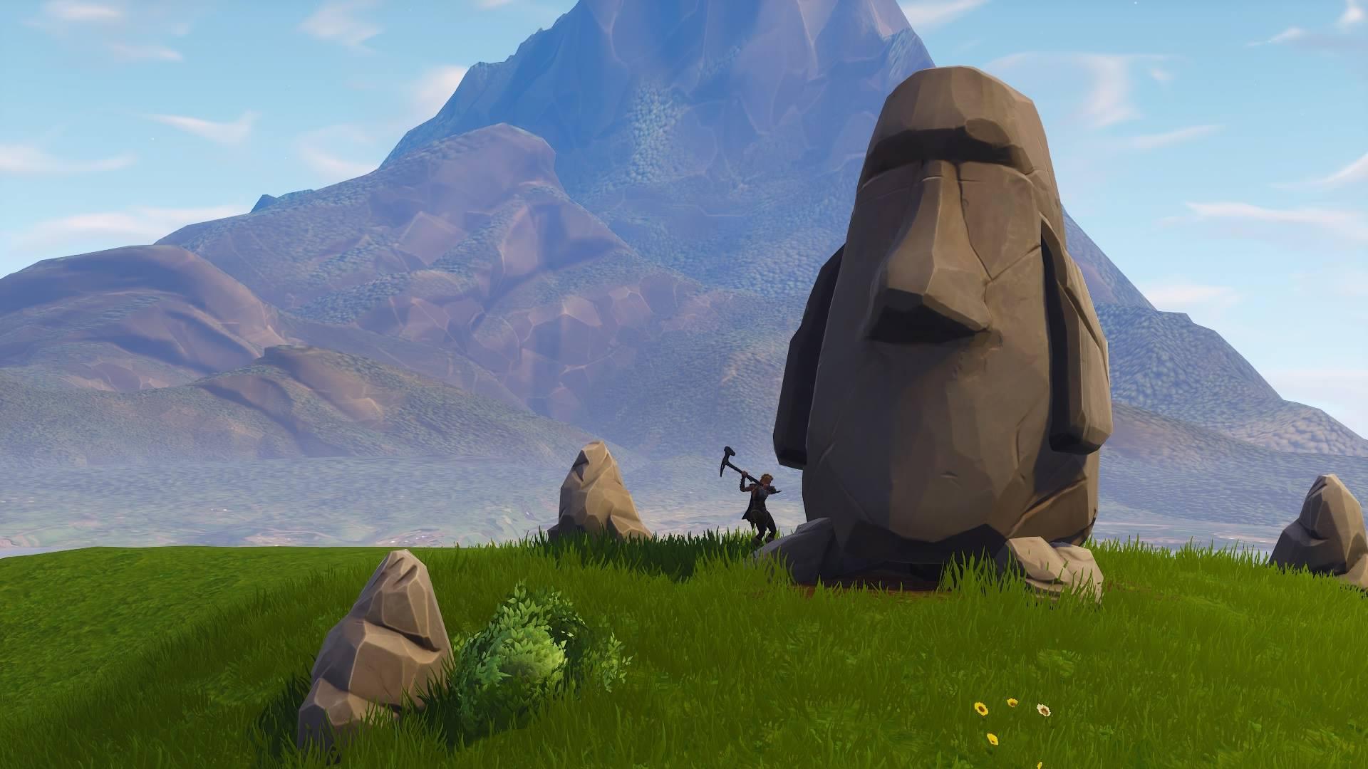 Fortnite Stone Head Statue Locations Season 10 Map Video