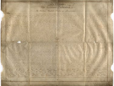 3 Questions About the New Copy of the Declaration of Independence