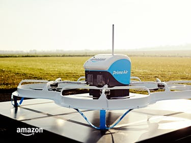Amazon's Prime Air Drone Made Its First Delivery on December 7