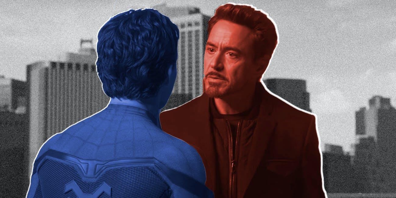 Tony Stark Spider-Man Avengers Endgame