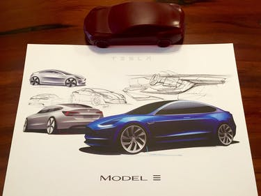 Some of the Tesla Model 3 design sketches