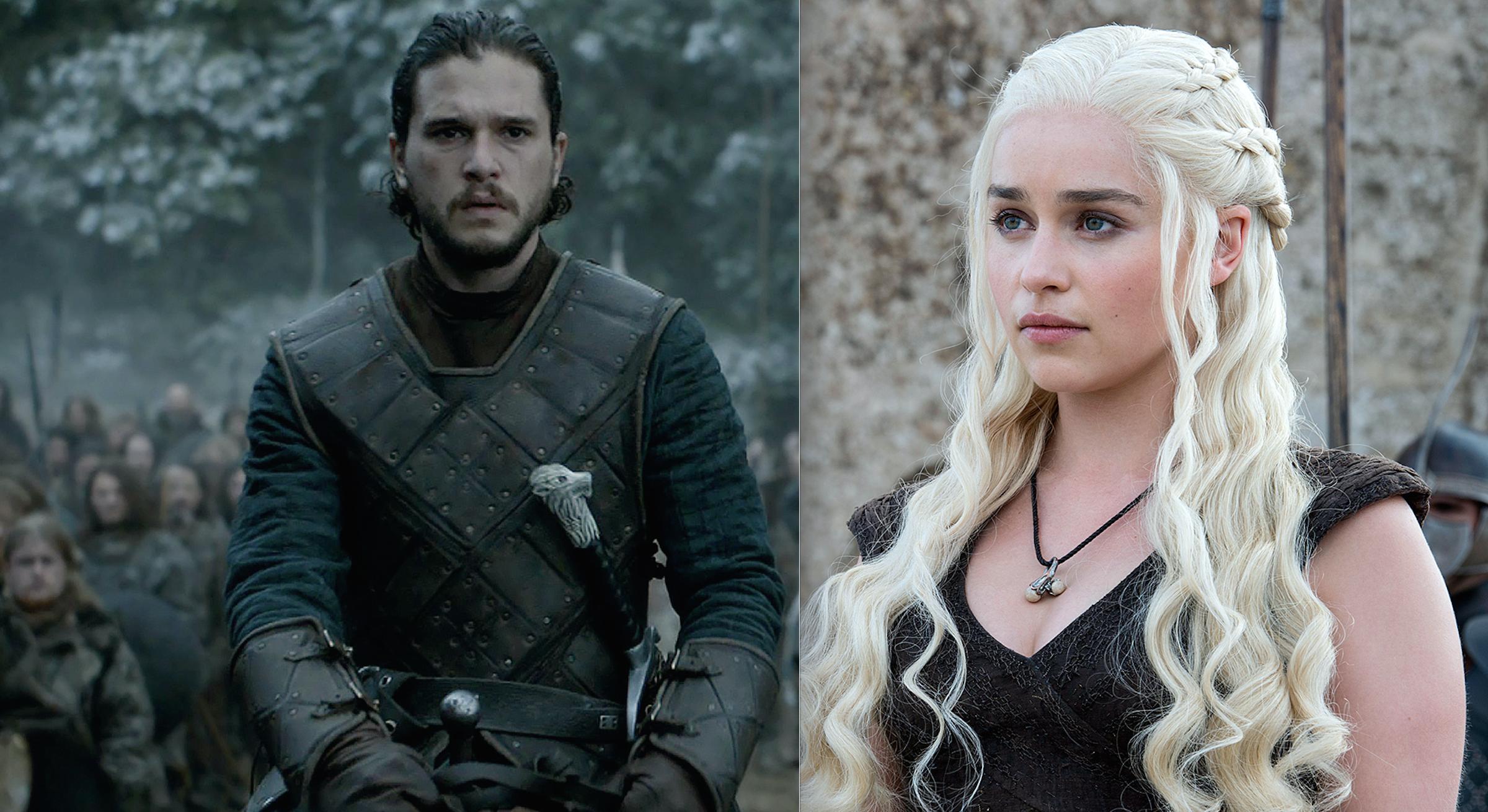 daenerys y jon nieve