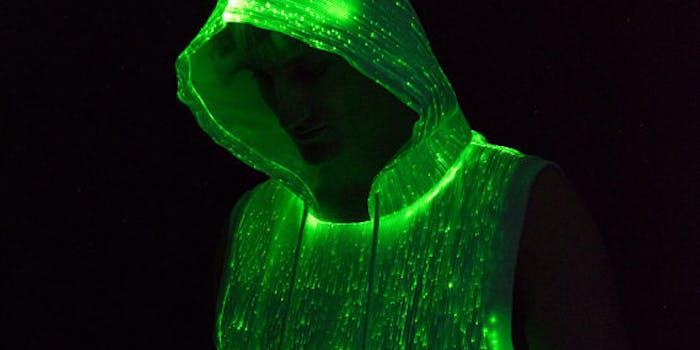 Hoodie burning man glow