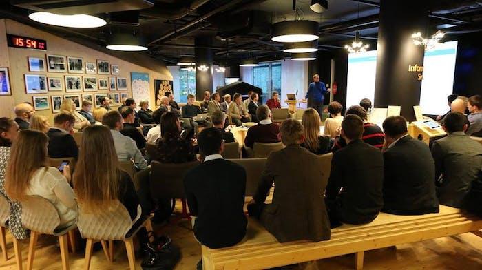 An e-resident gathering in Tallinn.