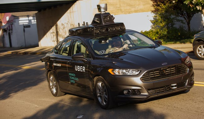 A self-driving Uber in Pittsburgh in September.