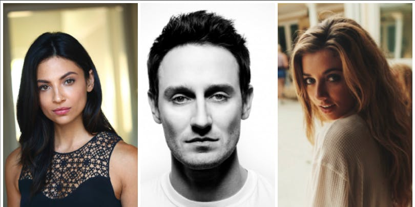 Floriana Lima, Josh Stewart, and Giorgia Whigham