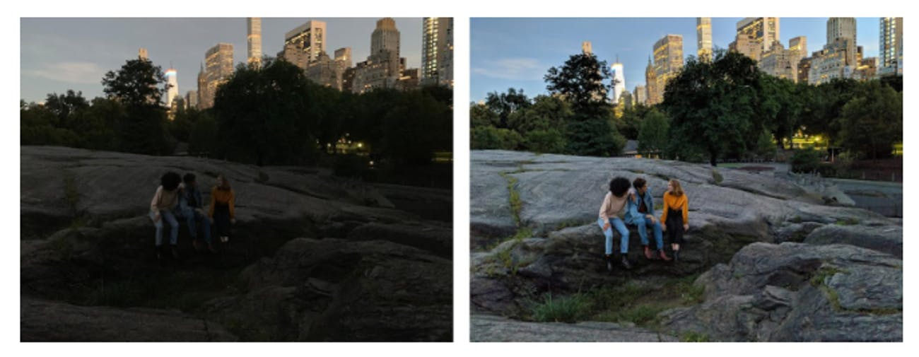 google pixel night sight vs iphone xs camera