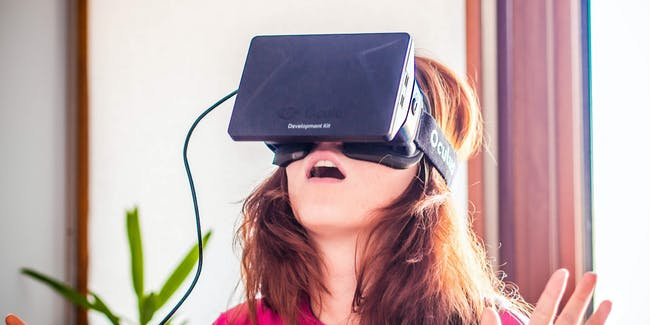 Woman with VR