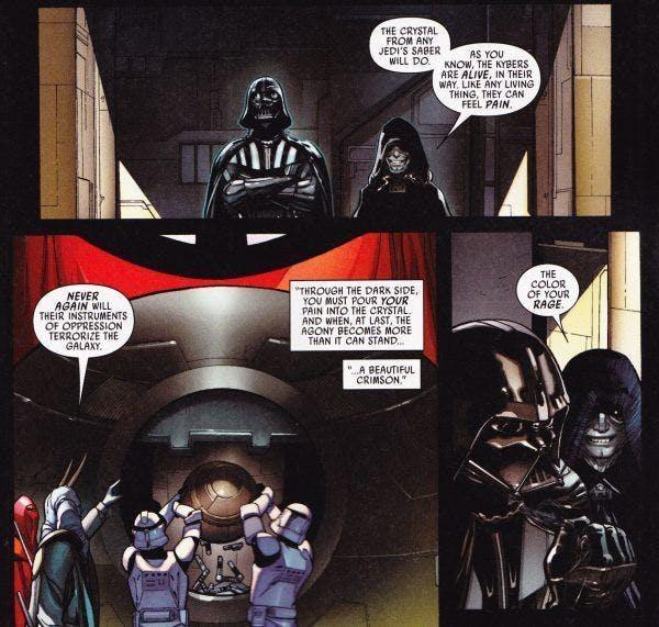 Darth Vader Red Lightsaber Marvel