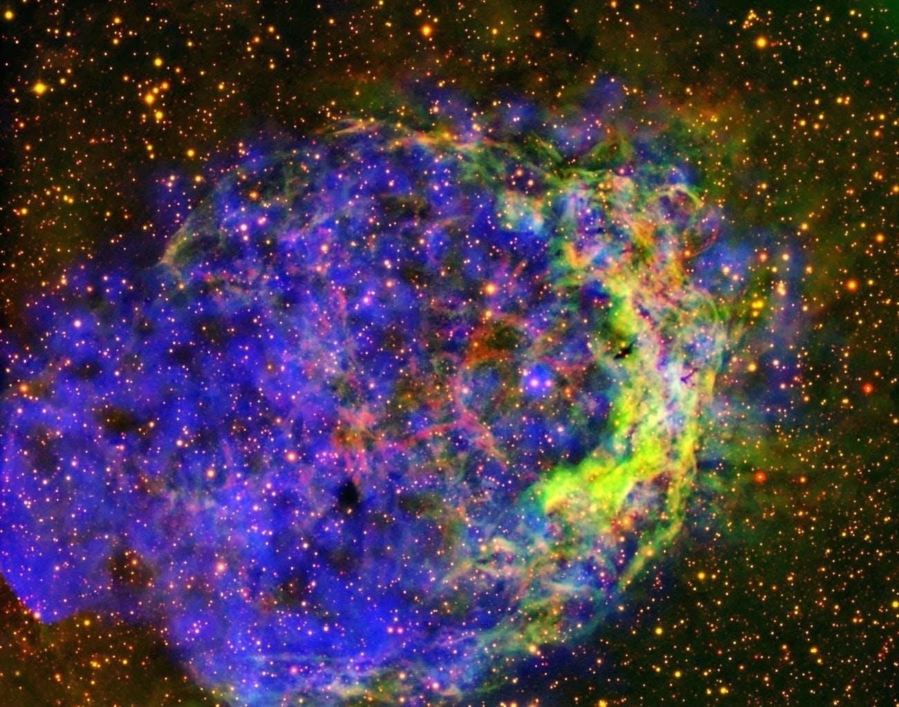 Star-circling bubble of gas nebula