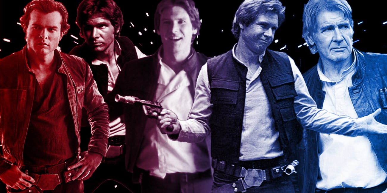 All Han Solo's incarnations, so far.